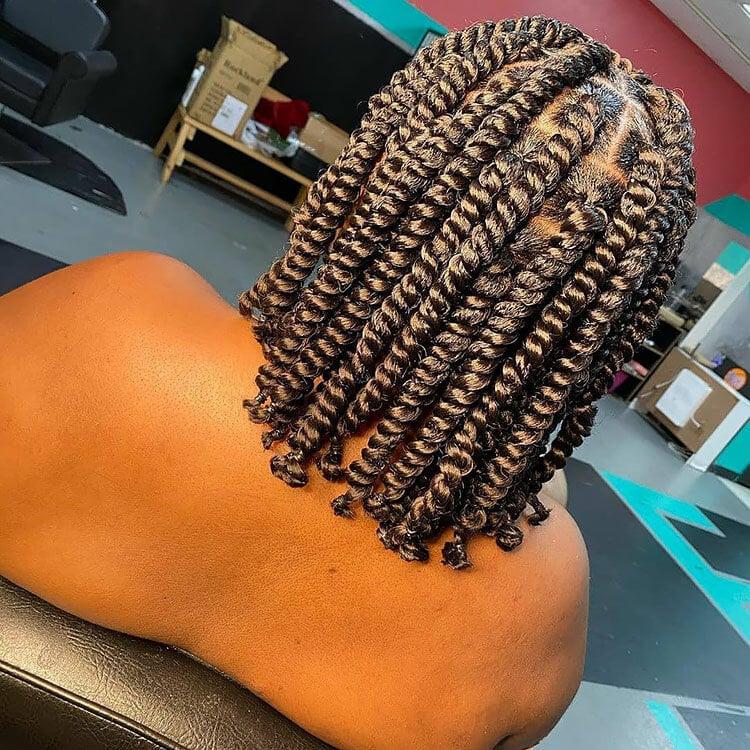 Senegalese Twist Hairstyles short hairdo