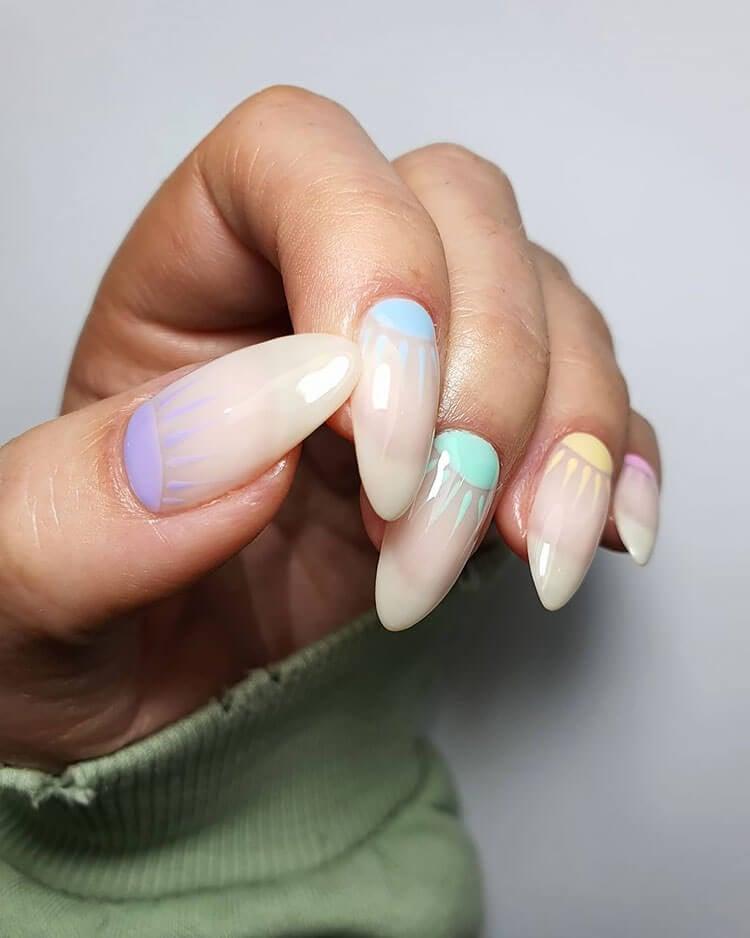 sunshine pastel nails