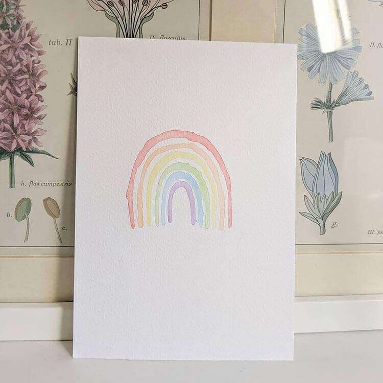 simple rainbow painting
