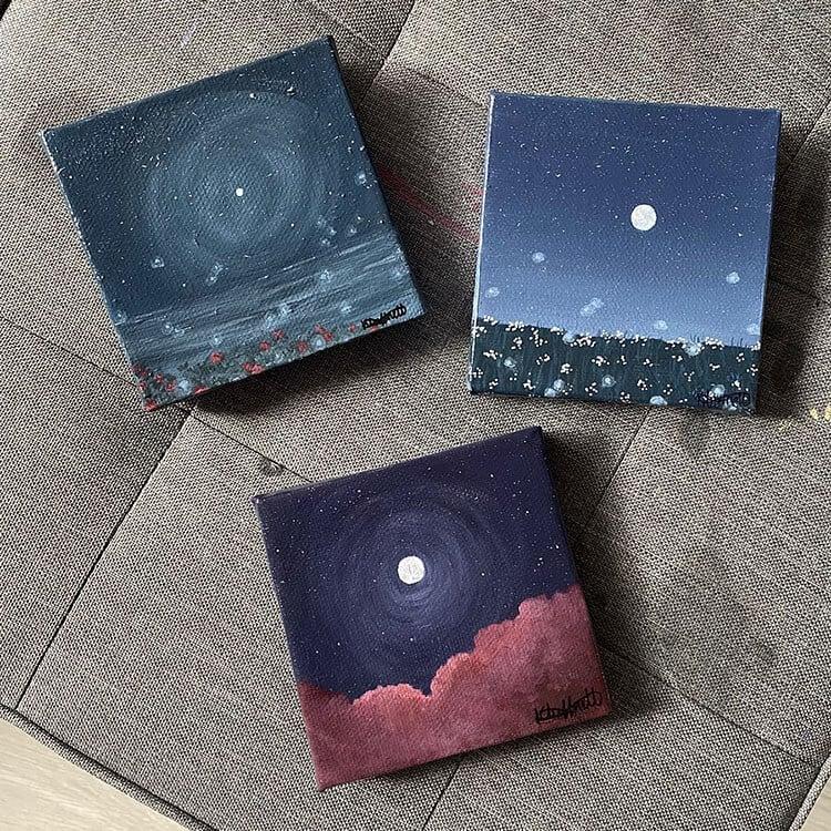 three night sky paintings