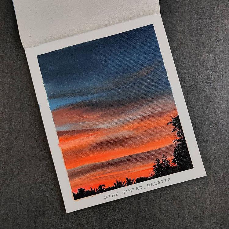blue and orange sky