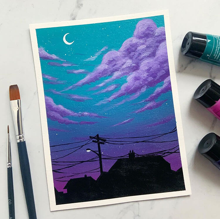 21 Beautiful Cloud And Sky Painting Ideas Dawn Designs