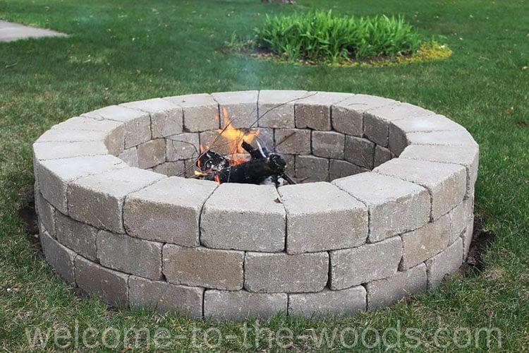 DIY ROUND FIRE PIT