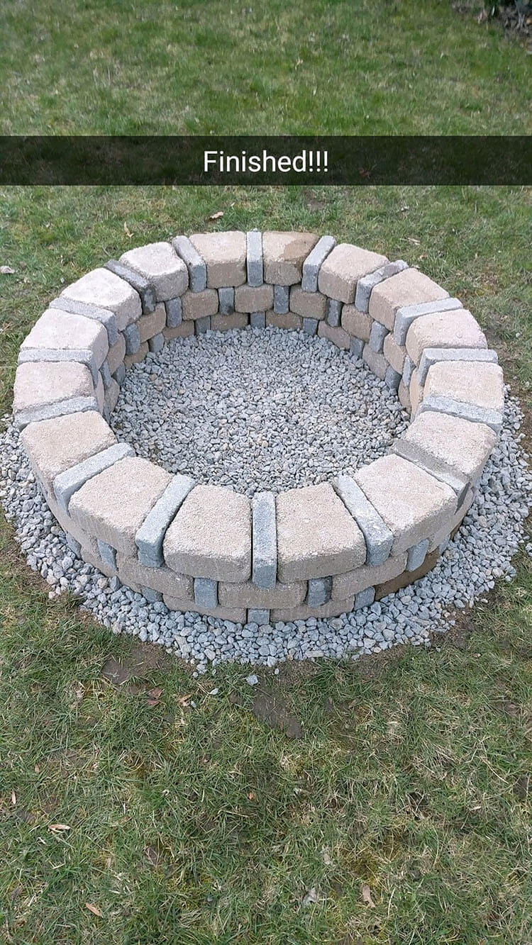 DIY BRICK FIRE PIT FOR ONLY $80