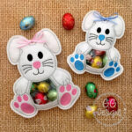in the hoop machine embroidery designs bunny rabbit