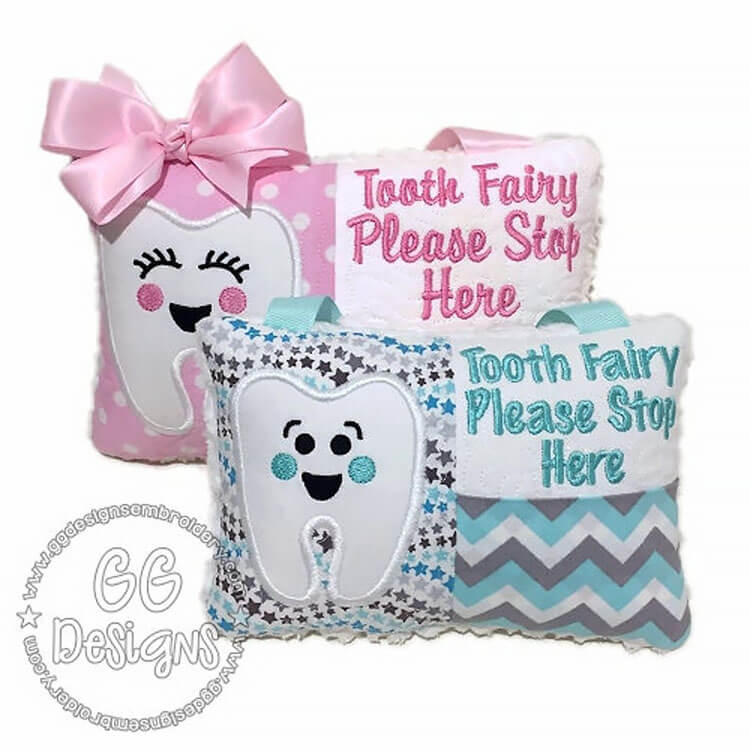 BOY AND GIRL TOOTH FAIRY PILLOW