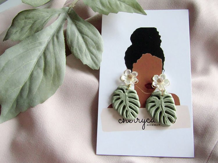 EVIE PALM FROND EARRINGS