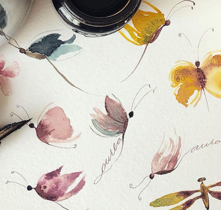 watercolor butterfly painting ideas 5