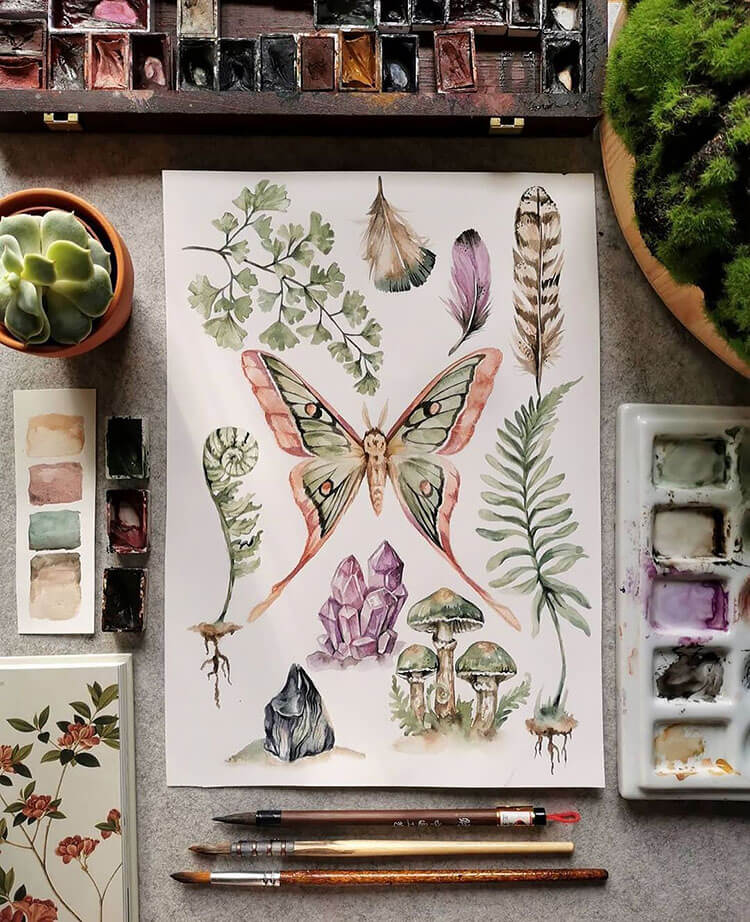 watercolor butterfly painting ideas 13