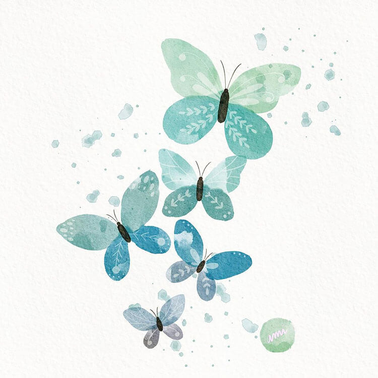 watercolor butterfly painting ideas 9