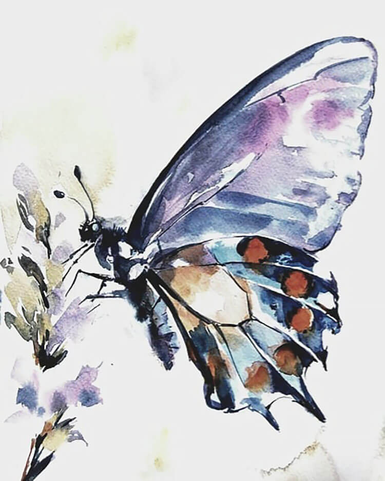 watercolor butterfly painting ideas 7