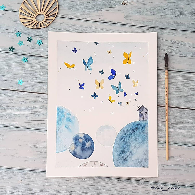 watercolor butterfly painting ideas