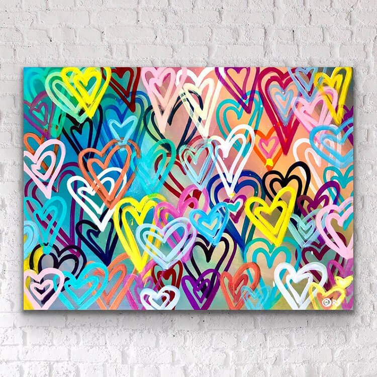 HEARTS PAINTING