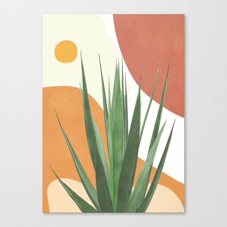 PLANT WITH SUN