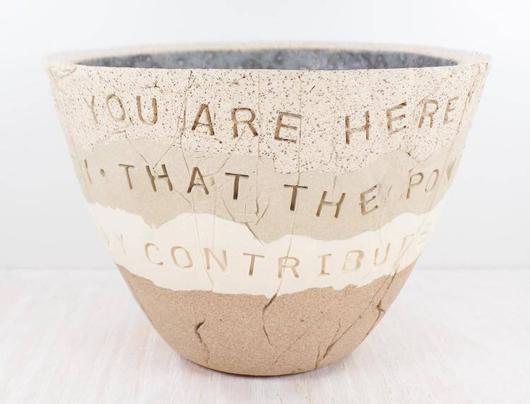 QUOTE POTTERY BOWL