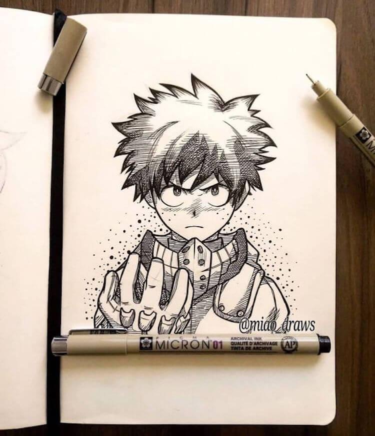 my hero academia drawing