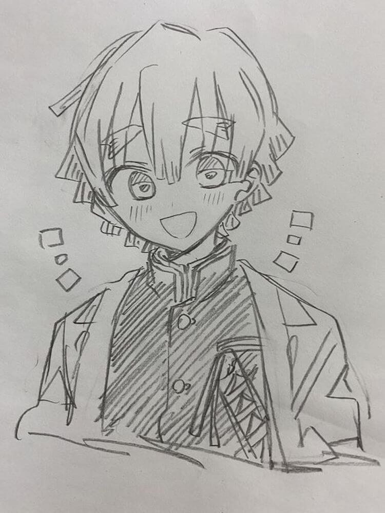 Zenitsu demon slayer drawing