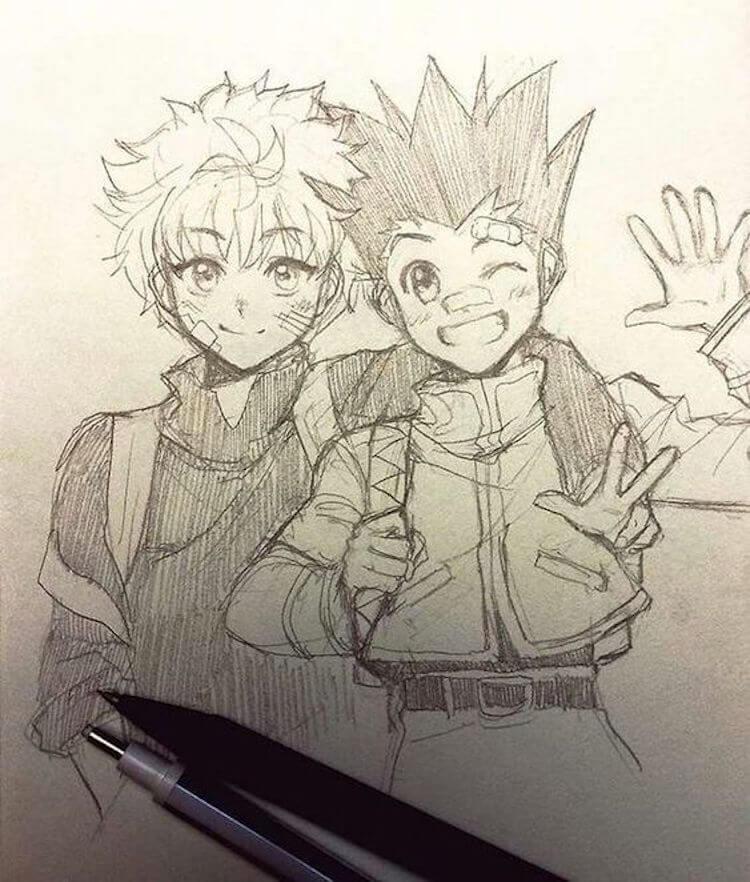 Killua and Gon hunter x hunter drawing