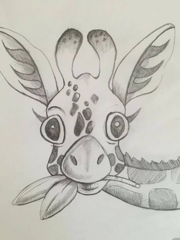GIRAFFE EATING (things to draw when you're bored)