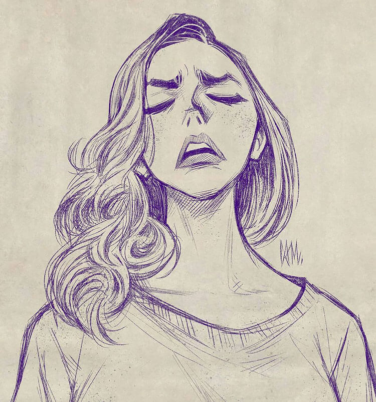 GIRL MAKING SIGH EXPRESSION