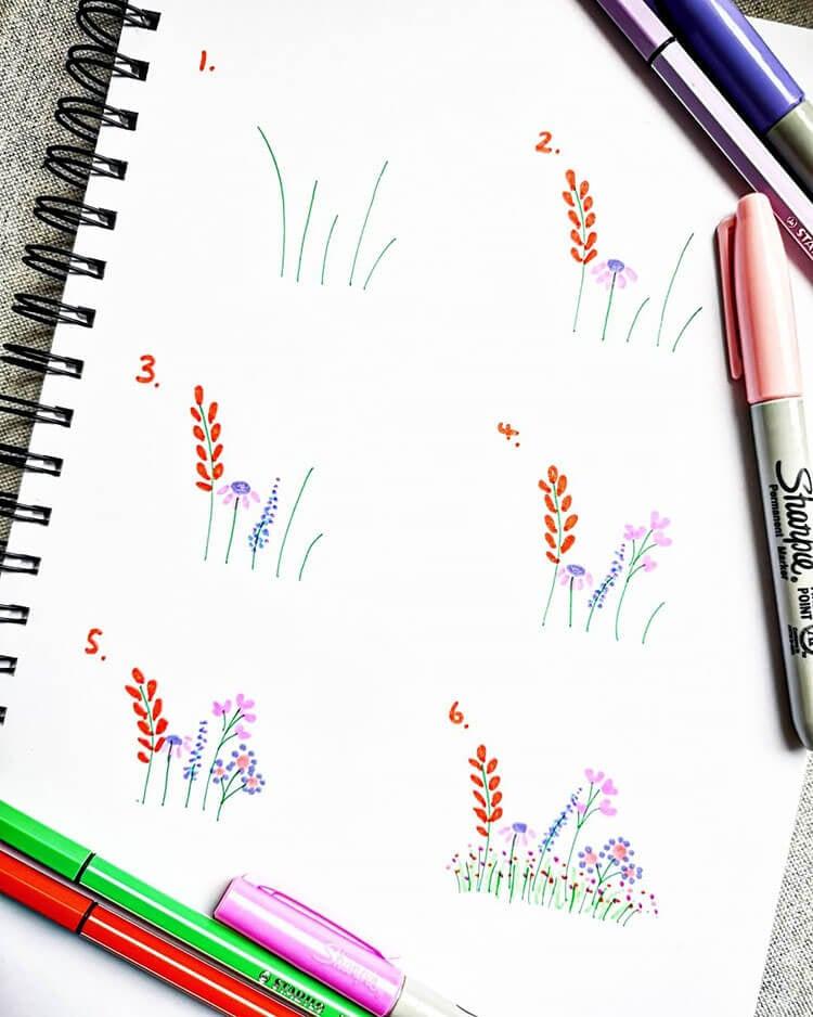 SIMPLE FLOWER DOODLES