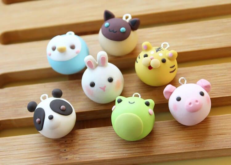 animal bun charms