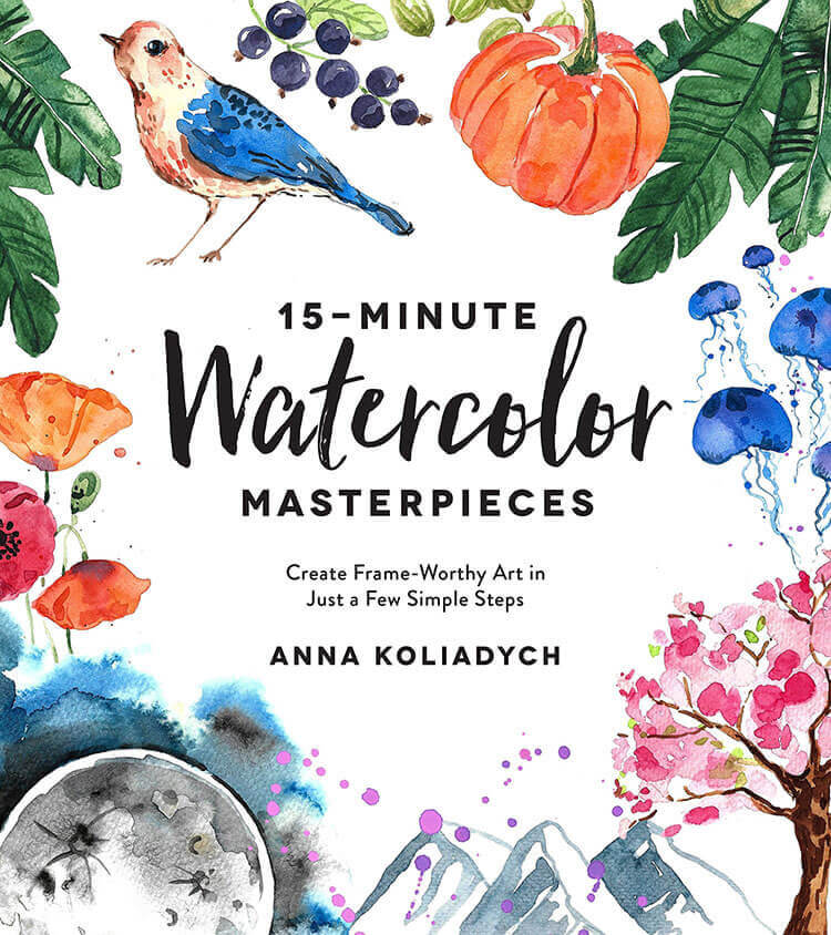 15 MINUTE WATERCOLOR MASTERPIECES BY DEARANNART