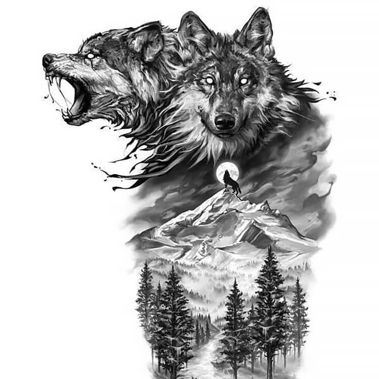 WOLF ART PIECE