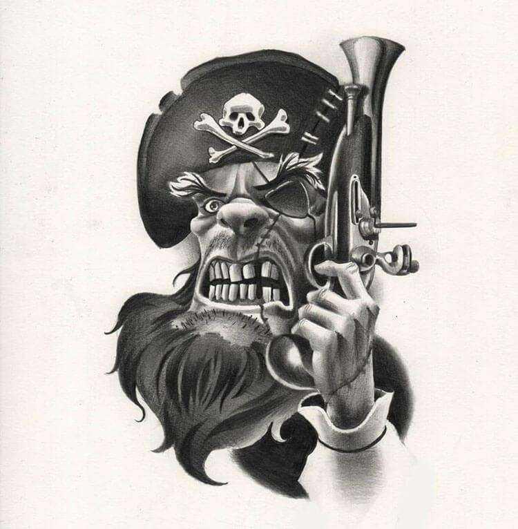 dibujo pirata genial