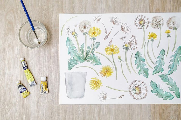 dandelion doodles