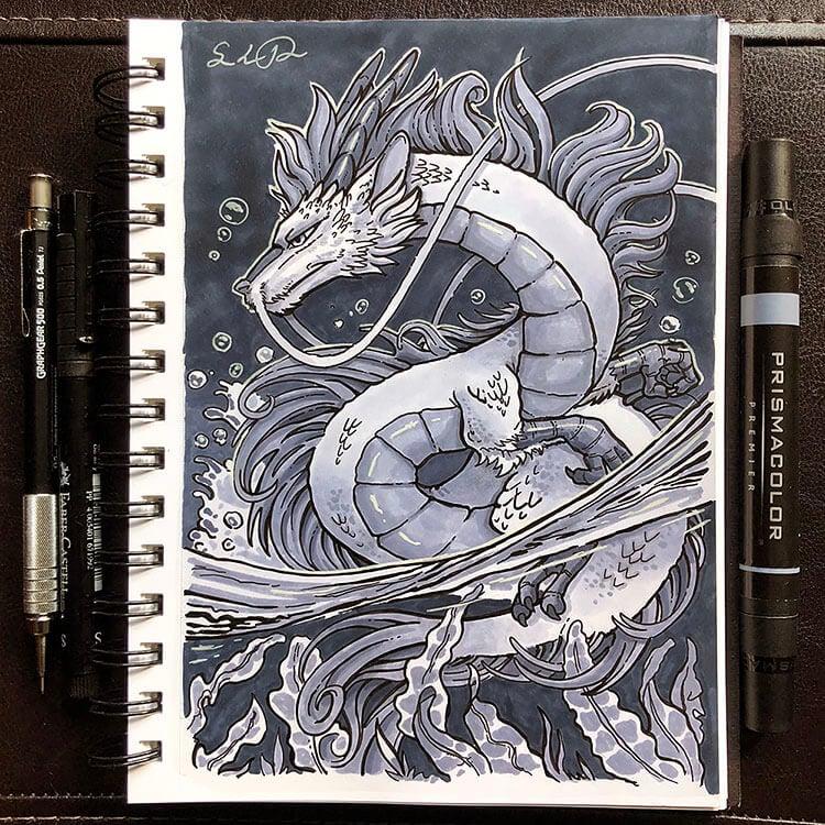 dragon underwater