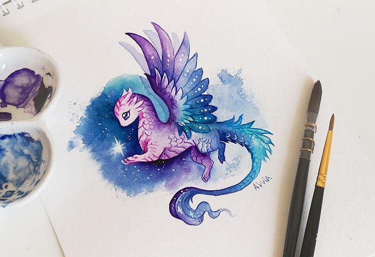 dragon in sky