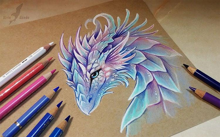 purple and blue dragon