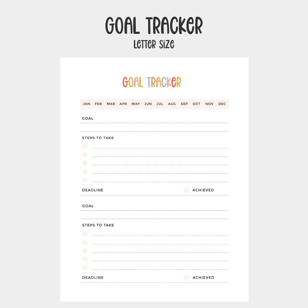 goal tracker printable