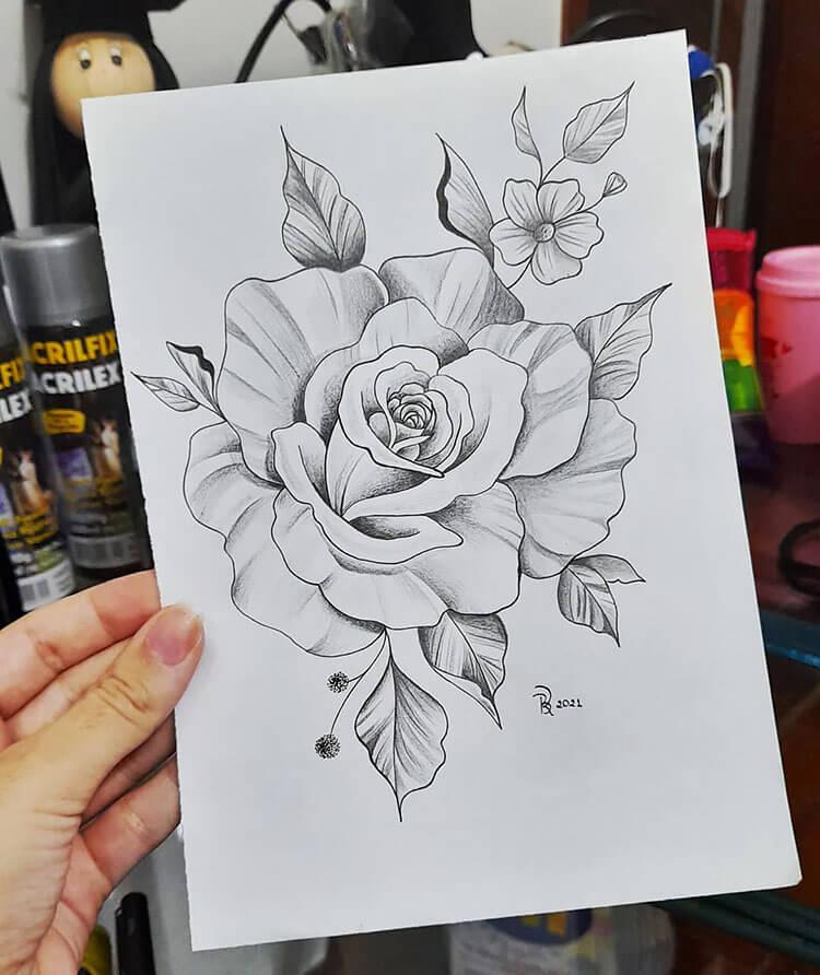 gran rosa sombreada