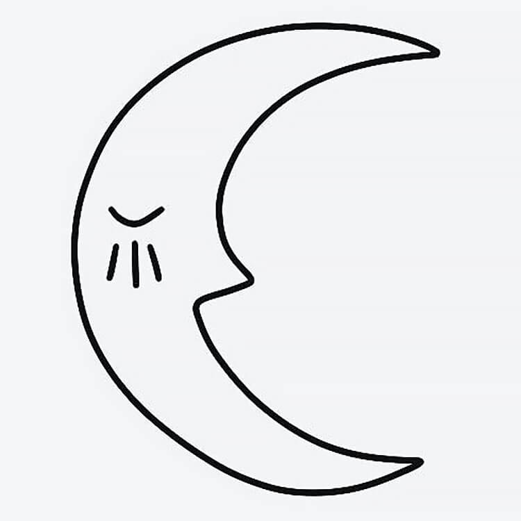 simple moon tattoo