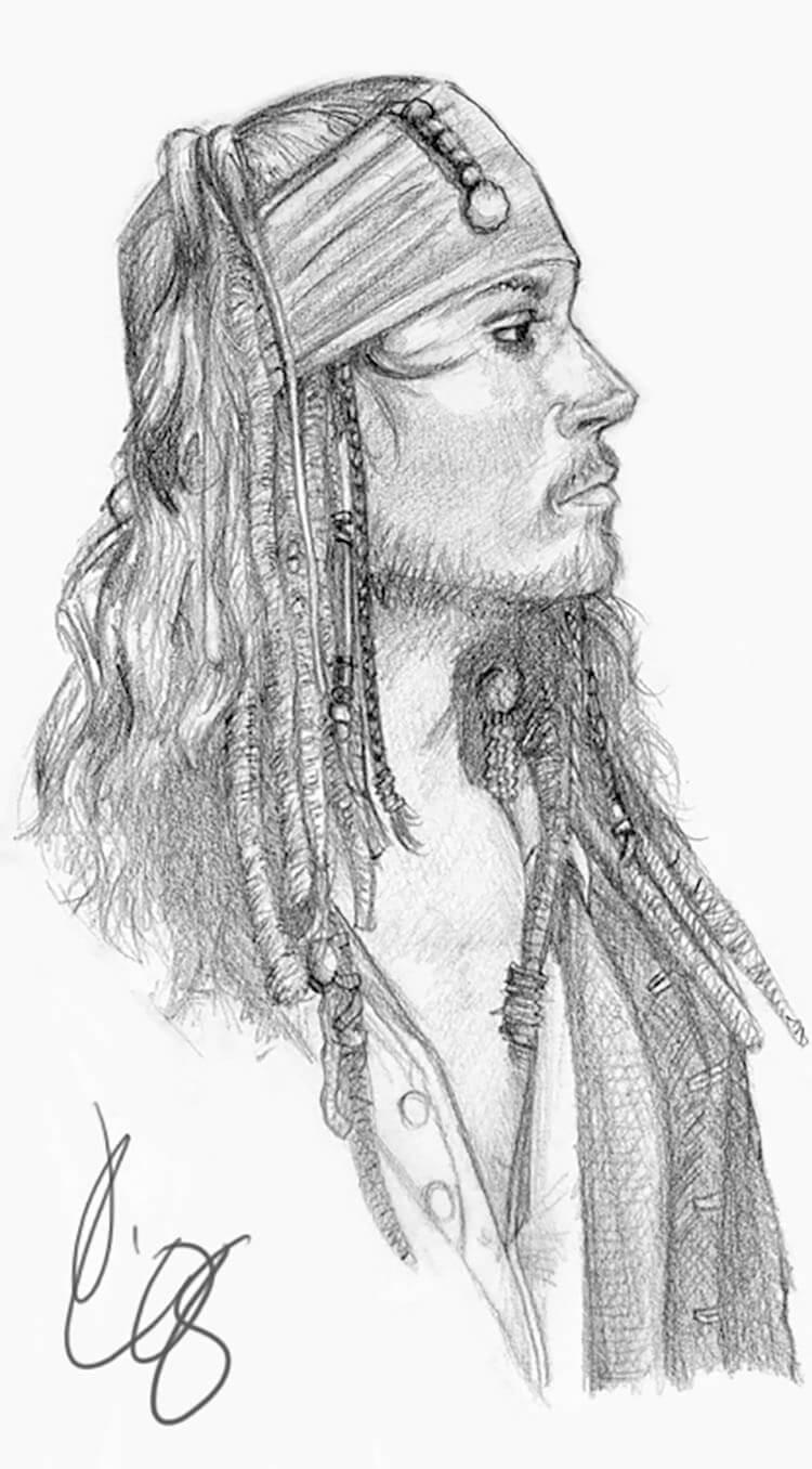 dibujos de jack sparrow pirate