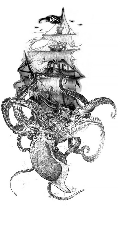 dibujo de barco pirata