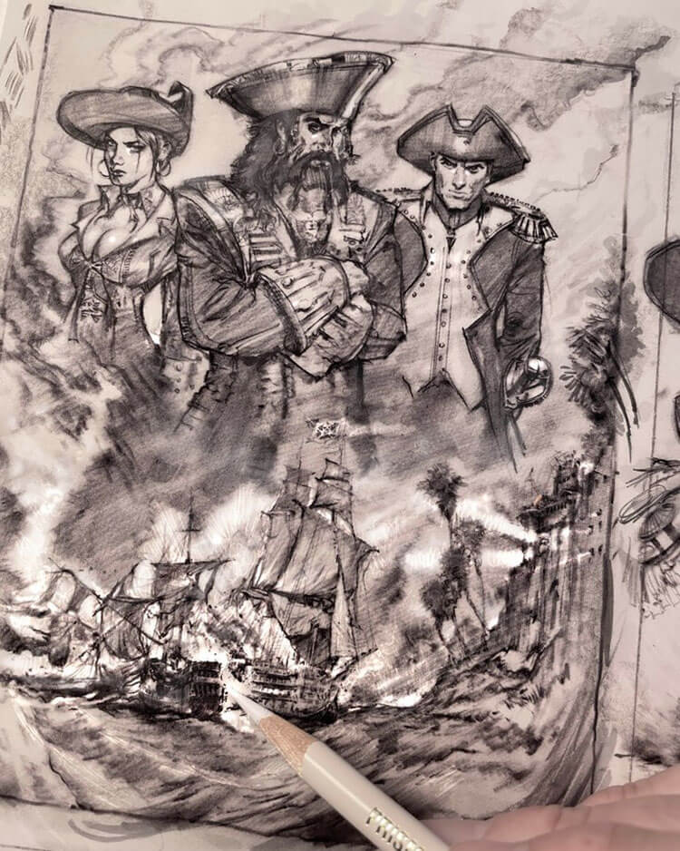 piratas y barco pirata