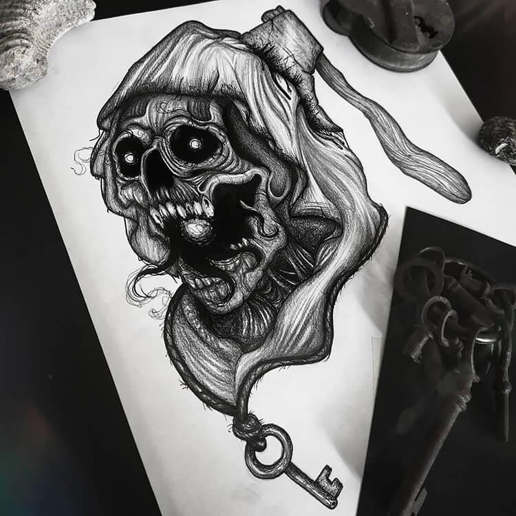 skull scarecrow