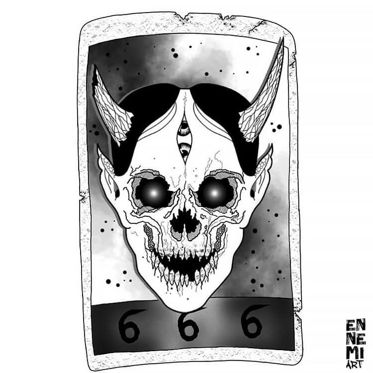 skull tarot card