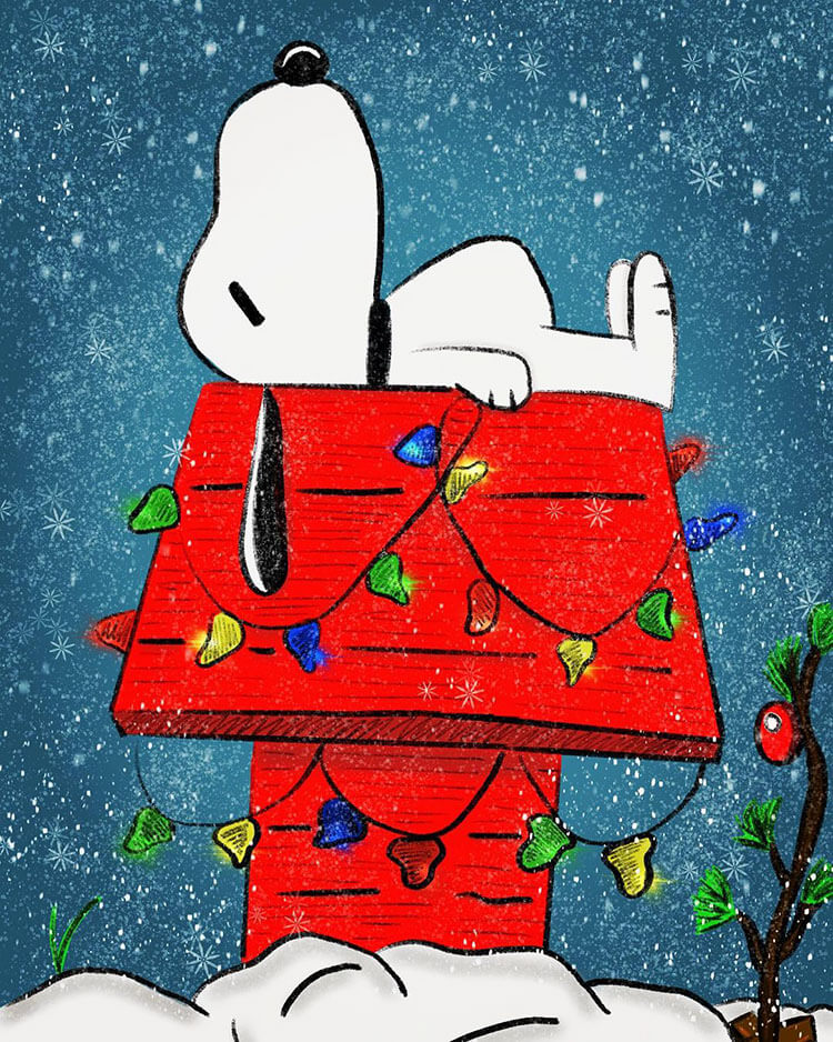 snoopy painting