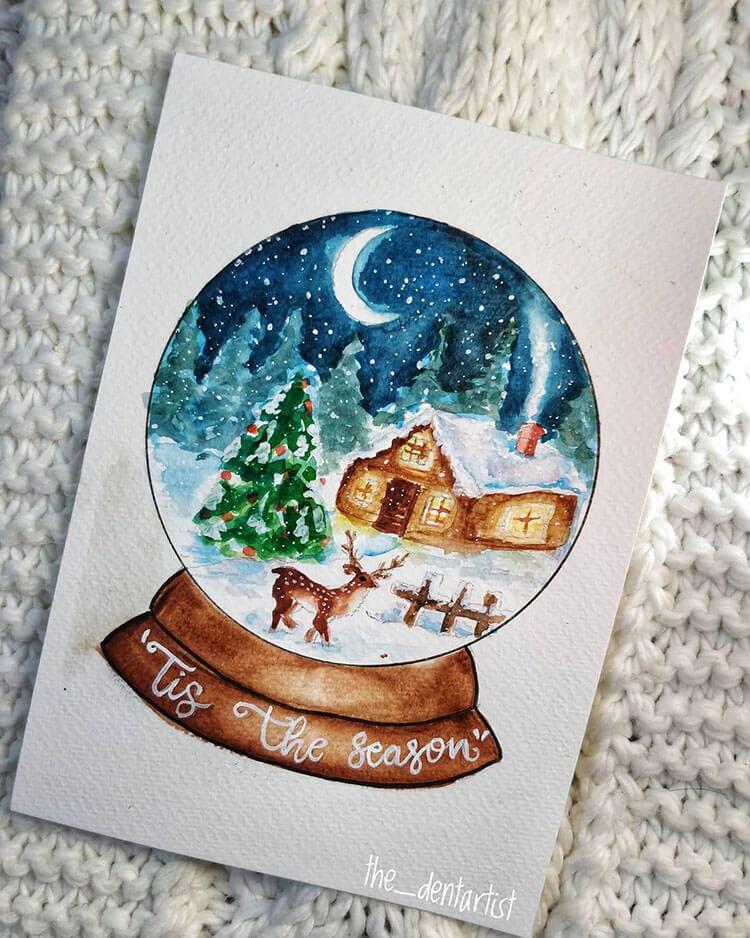 tis the season snow globe