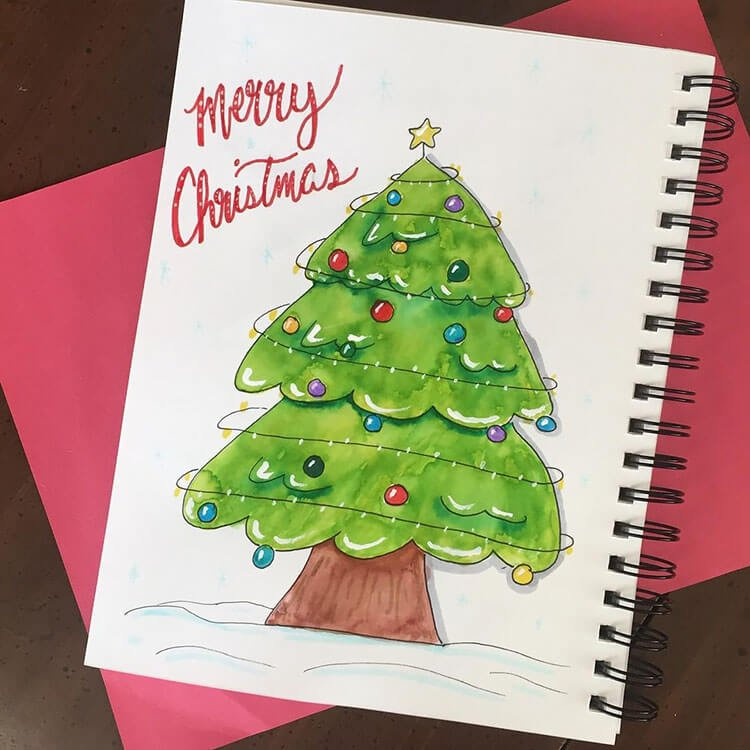 christmas tree with markers