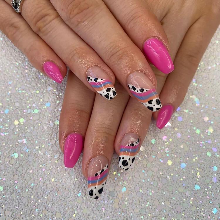 pink and orange nails