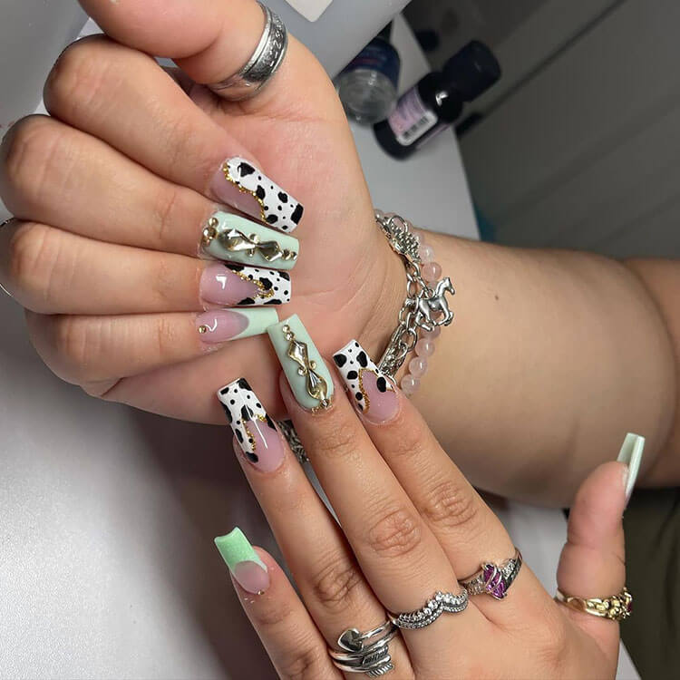 nails with embellishments