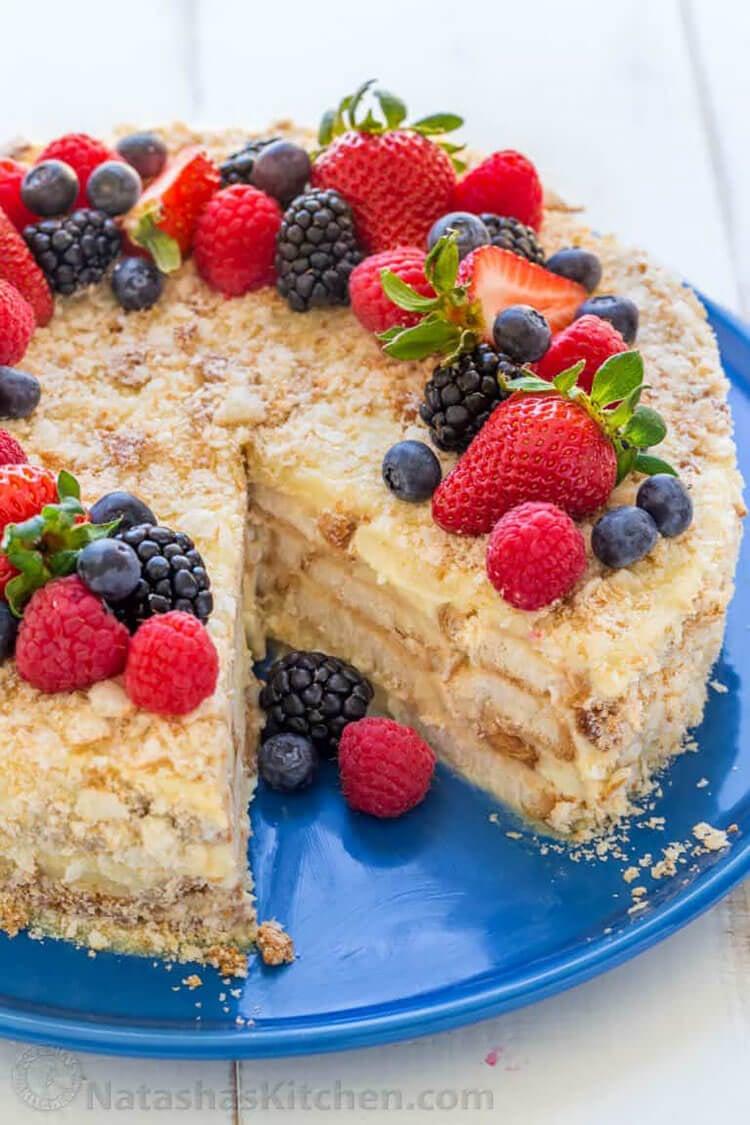 No Bake Napoleon Cake Recipe