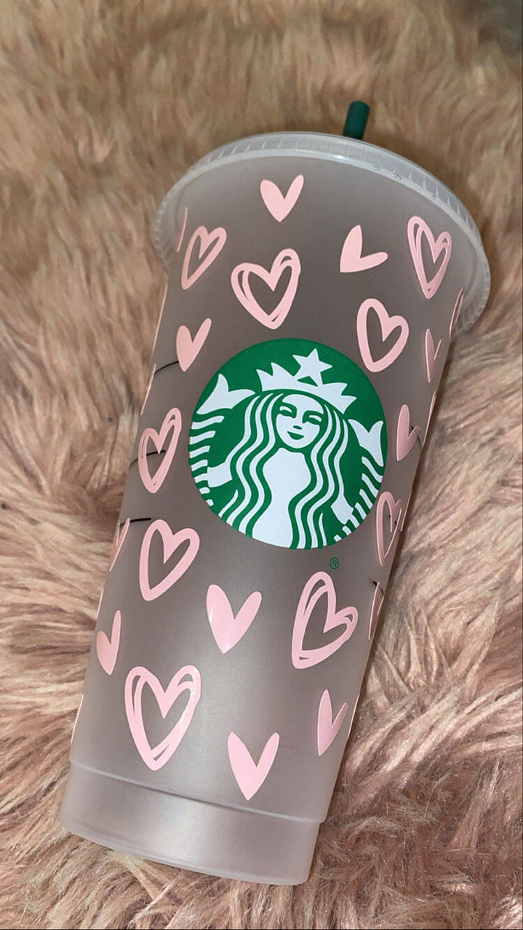 PINK HEARTS CUP
