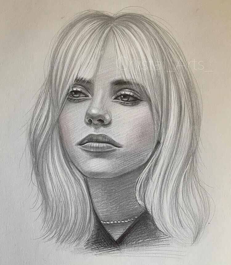 girl with medium hair