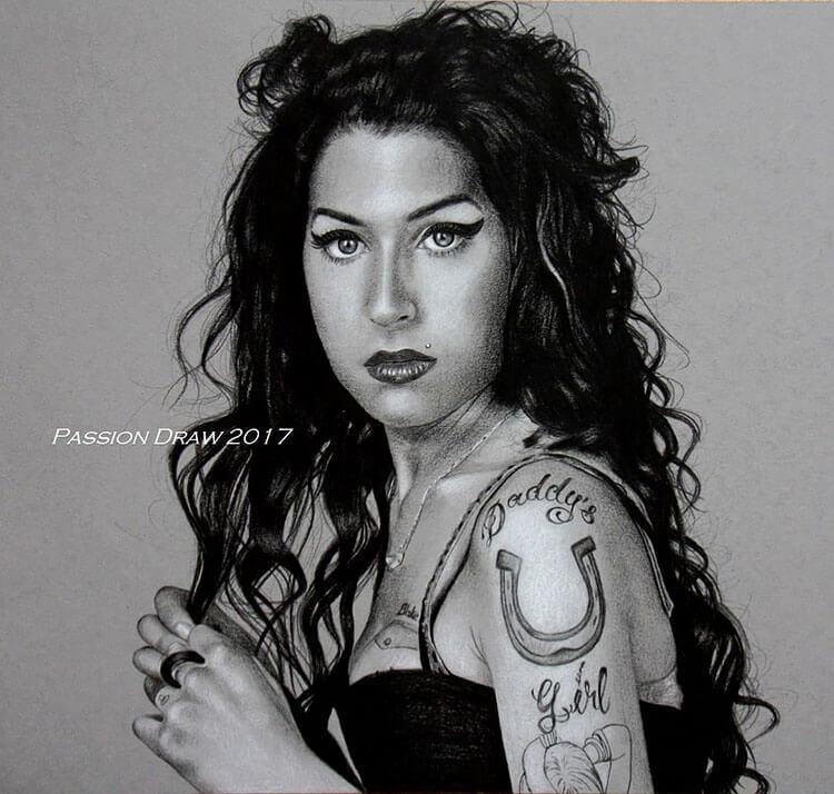 amy winehouse portrait